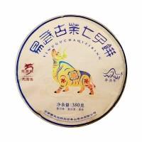 2021, Иушаньский бык, 380 г/блин, шэн, ч/ф Лунъюань Хао
