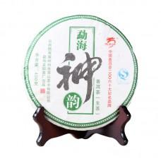 2007, Дыхание Мэнхая, 400 г/блин, шэн, ч/ф Лунъюань Хао