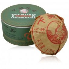 2013, Зеленая Коробка, 100 г/коробка, шэн, ч/ф Сягуань