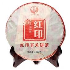 2013, Дань традициям. Красная Печать, 357 г/блин, шэн, ч/ф Сягуань