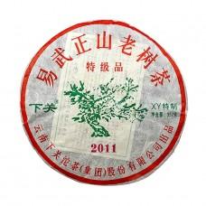 2011, Иу, старые деревья, коллекционный, 357 г/блин, шэн, ч/ф Сягуань