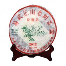 2012, Иу. Старые деревья, 357 г/блин, шэн, ч/ф Сягуань