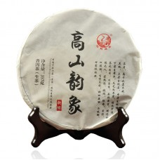 2014, Очарование Высокогорья, 357 г/блин, шэн, ч/ф Сягуань