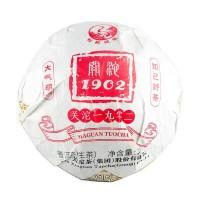 2019, Гуаньто 1902, купаж Дуньбань, Сибань и Баньчжан, 250 г/коробка, шэн, ч/ф Сягуань