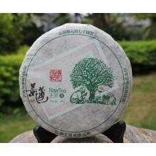 2012, Цзинмай. Древние деревья, 200 г/блин, шэн, ч/ф Фуюань Чан