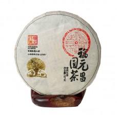 2019, Почки гушу из дер. Маньса, 357 г/блин, шэн, ч/ф Фуюань Чан