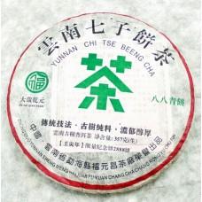2012, Зелёная Печать - 88, 357 г/блин, шэн, ч/ф Фуюань Чан