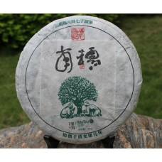 2012, Древние деревья Наньношаня, 357 г/блин, шэн, ч/ф Фуюань Чан