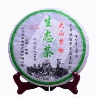 2006, Горный чай девственного леса, 400 г/блин, шэн, ч/ф Хайвань