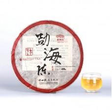 2011, Мэнхайский выдержанный, 400 г/блин, шэн, ч/ф Хайвань