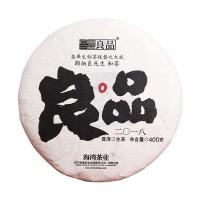 2018, Купаж пяти районов (Лаобаньчжан, Махэй, Паша, Бама и Дунго), 400 г/блин, шэн, ч/ф Хайвань