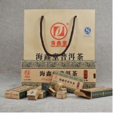 2015, Золотой слиток, 500 г/коробка, шэн, ч/ф Хайсинь Тан