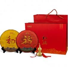 2019, Мир и Благополучие, подарочный вариант, 714 г/комплект, шэн, ч/ф Хунпу Хао