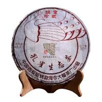 2017, Перо Павлина (сокровища Баньчжана), 357 г/блин, шэн, ч/ф Цзиньдафу