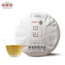2017, Цзинмайский органик, 357 г/блин, шэн, ч/ф Цзипу Хао