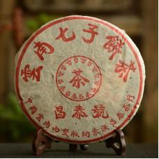 2003, Красная Печать (серия Чантай Хао), 400 г/блин, шэн, ч/ф Чантай