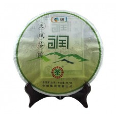 2012, Чай Эдемского сада (нежный), 357 г/блин, шэн, ч/ф Чжунча