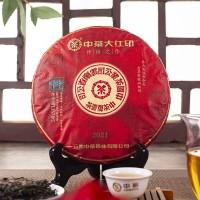 2021, Большая красная печать, 357 г/блин, шэн, ч/ф Чжунча