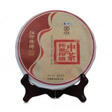 2016, Красная печать, 400 г/блин, шэн, ч/ф Чжунча