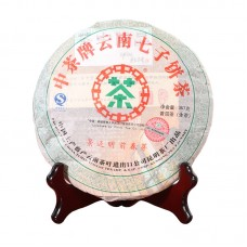 2007, Весенние почки Цзинмайшаня, 357 г/блин, шэн, ч/ф Чжунча