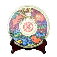 2019, Цзихай, иушаньское сырьё, 357 г/блин, шэн, ч/ф Чжунча