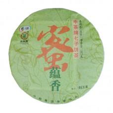 2016, Медовый аромат, 357 г/блин, шэн, ч/ф Чжунча