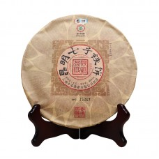 2017, Куньминский блин, 400 г/блин, шэн, ч/ф Чжунча