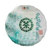 2019, Зелёный Павлин, 357 г/блин, шэн, ч/ф Чжунча