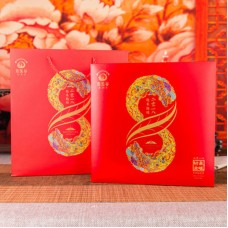 2018, Лист Чая на удачу, подарочный вариант, 357 г/блин, шэн, ч/ф Юньюаньгу