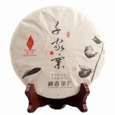 2013, Цяньцзячжай, древние деревья, 357 г/блин, шэн, Пучживэй (компания Хундэ)