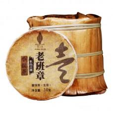 2018, Лаобаньчжана древние деревья (10*30г), 300 г/блин, шэн, Пучживэй (компания Хундэ)