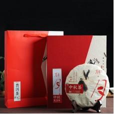 2015, Чай середины осени (подарочн. вариант), 500 г/блин, шу, Шудайцзы