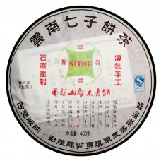 2007, Буланшань Цяому, 400 г/блин, шэн, ч/ф Сыю